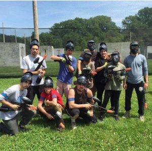 family paintball outing