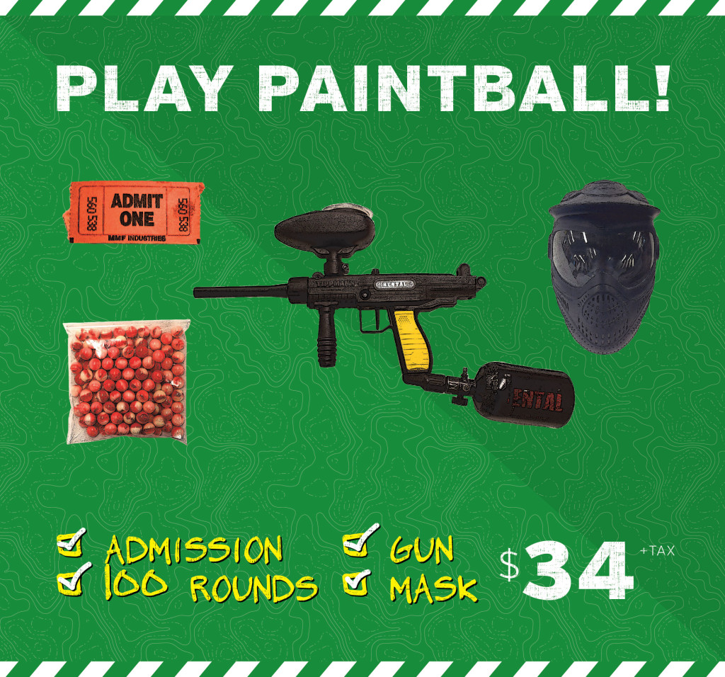 Paintball Standard package price