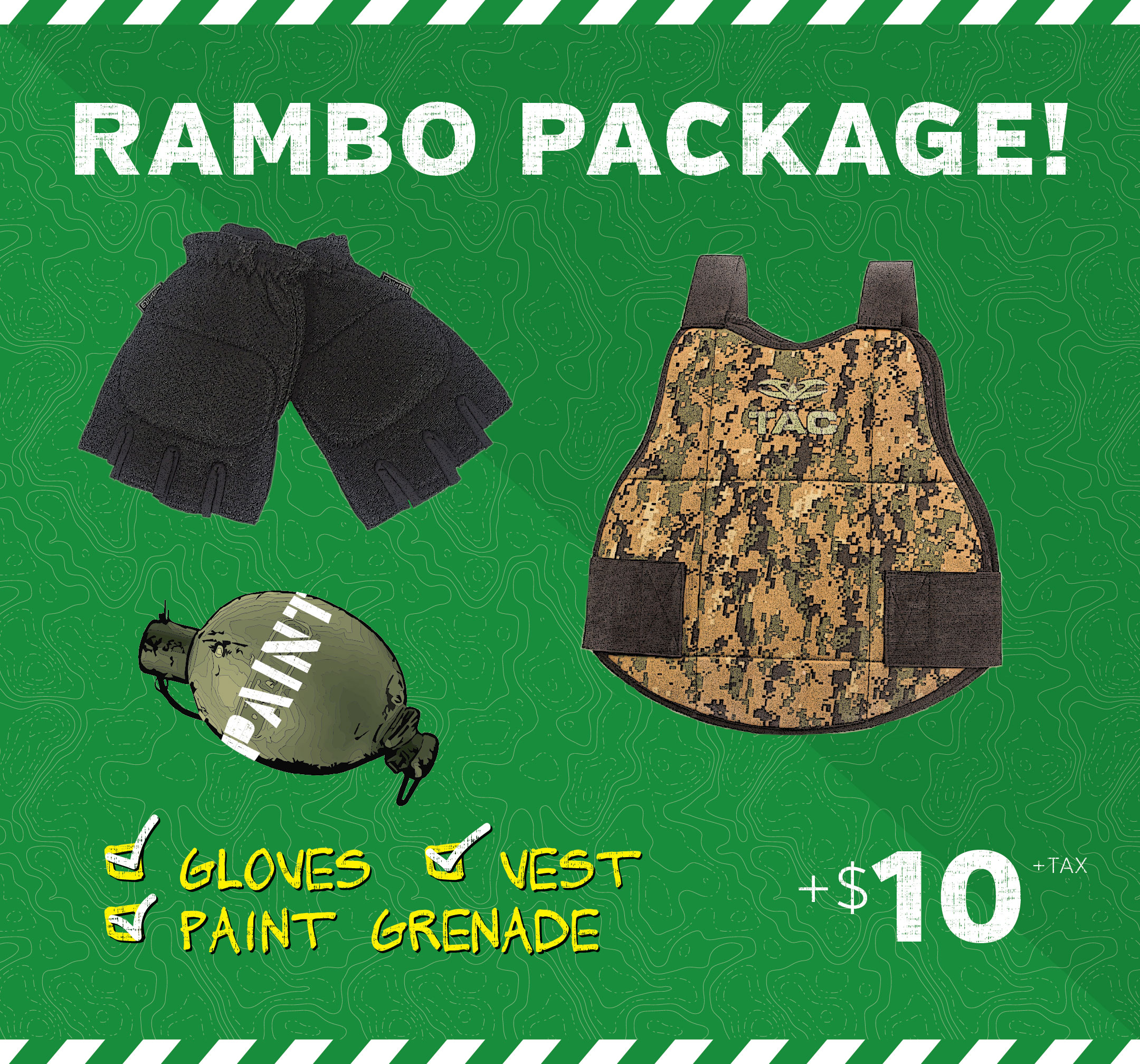 rambo paintball package price MN