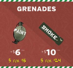 paintball grenade prices